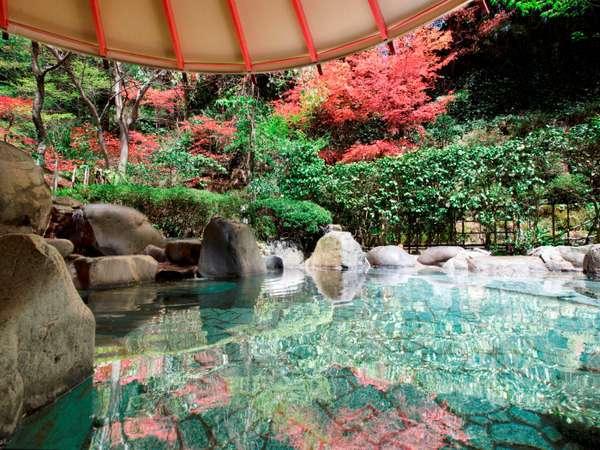 【露天風呂】澄んだ空気の中、開放的な気分で心ゆくまで名湯をご堪能いただけます。