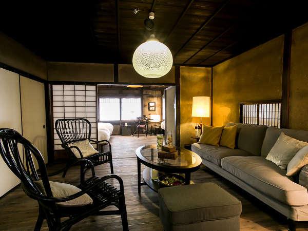 【スイート(ペットと泊まれる)・201】趣ある一棟貸切の客室。我が家のようにお寛ぎください。