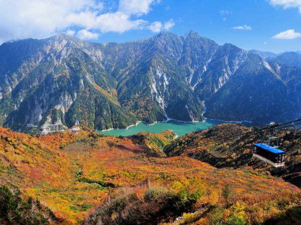 【立山黒部アルペンルート】眼下に紅葉のじゅうたんが広がる秋の立山ロープウェイ