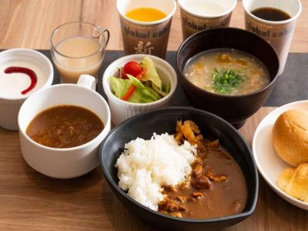 ◆朝食(トマトチキンカレー/鶏野菜粥)