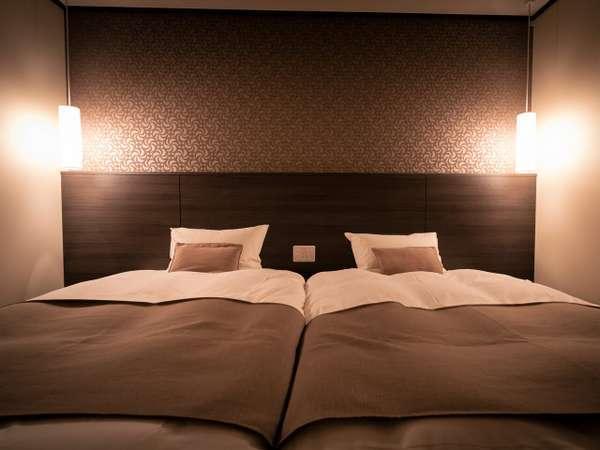 【加湿空気清浄機もございます】洋室のベッドは全室ハリウッドツインでお繋ぎ頂けます!