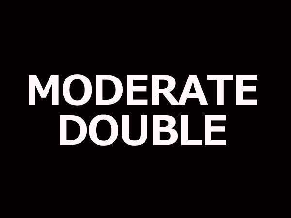 【MODERATE DOUBLE】