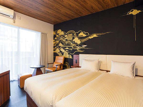 【South スタンダードツイン】18平米/100㎝幅ベッド2台/バルコニー付/カラーはお部屋によって異なります