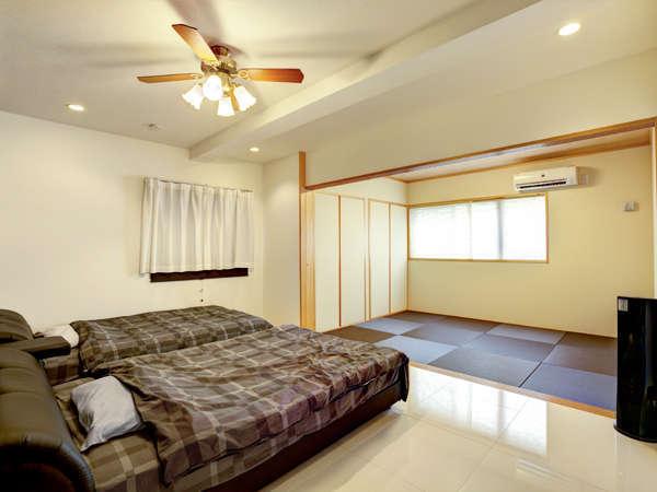 寝室には和室のお部屋もあり、家族連れにも安心してご利用いただけます☆