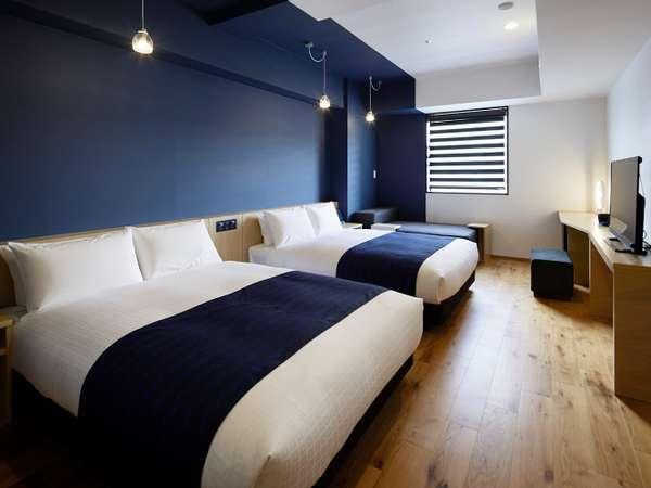 ◆グランドツイン◆32平米【ベッド幅140cm×2、ソファベッド100cm×1】 全室エアウィーヴ設置