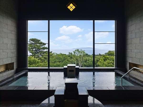 ブリサマリナ(温泉施設) 女性内湯 お天気が良ければ伊豆大島が見えます
