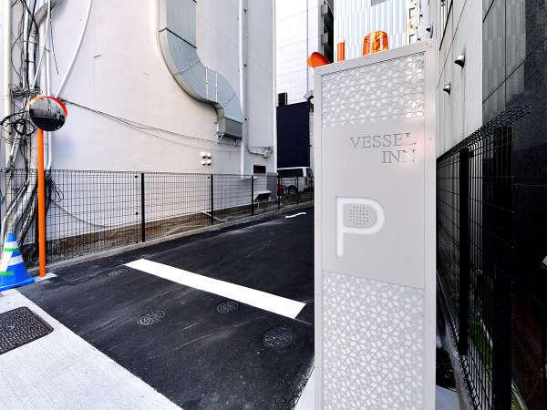 ホテル立体駐車場入り口☆袋町通に面しております。