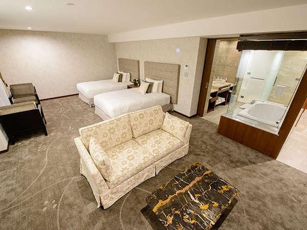 エグゼクティブツイン/56㎡/3Fに位置する1室限定の特別な客室