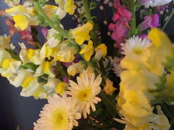 一階ロビーでスタッフが心を込めて生けたお花がお客様をお迎えいたします。