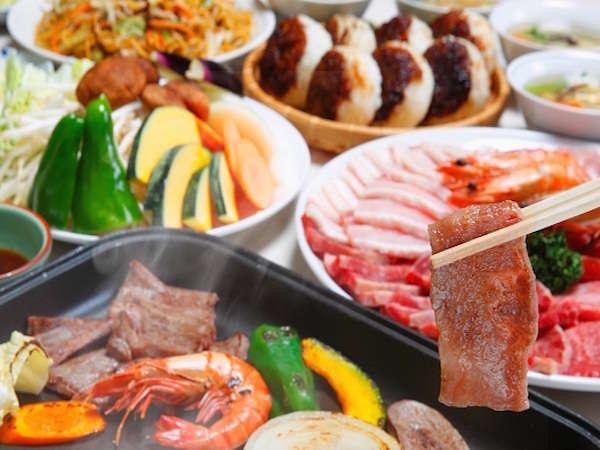信州牛焼肉セット内容【お肉(牛、豚、鶏)、野菜、信州みそ焼きおにぎり】