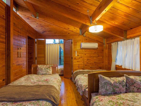 【森のゴリラ】寝室はベッドルームの他、布団部屋もございます。
