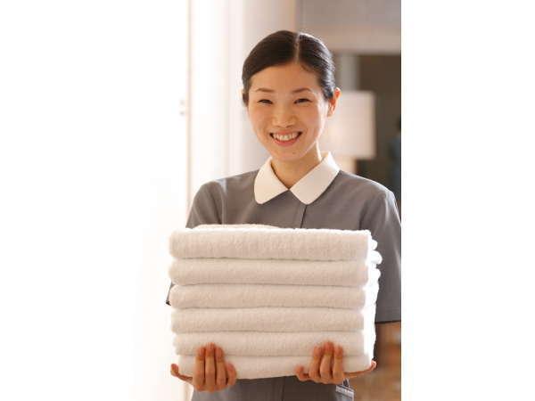 ふわふわのタオルをご用意しております