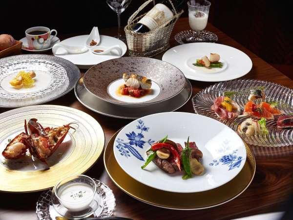 【夕食】鉄板焼きディナー(コース一例)