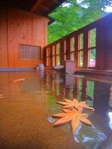 木曽川を望むひのきの露天風呂 リニューアル