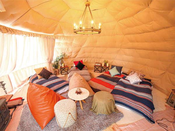 7.ドーム型テント 6M