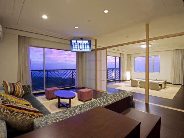 輝☆きらら☆和洋室96㎡■最上階4階■最大8名までOK■隔離されたベッドルームあり