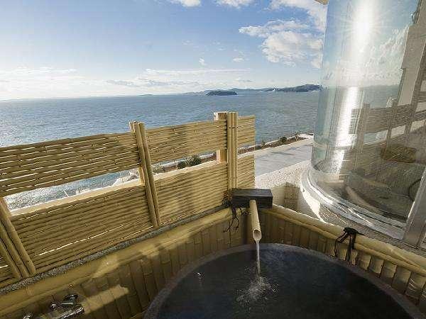 景涛閣 露天風呂付客室から望む三河湾の大パノラマ