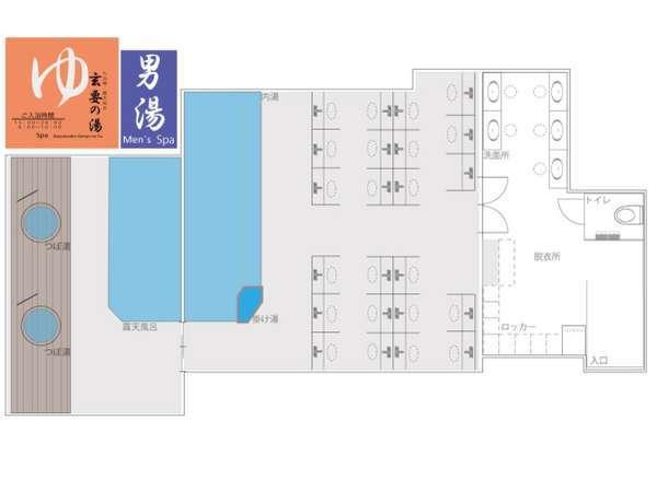 大浴場(男湯)レイアウト