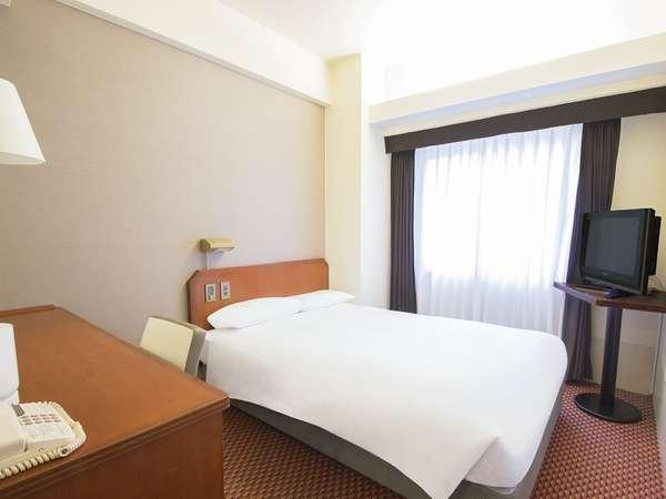 ■セミダブルルーム:ぴったり寄り添える130cm幅ベッドをご用意♪[15平米]