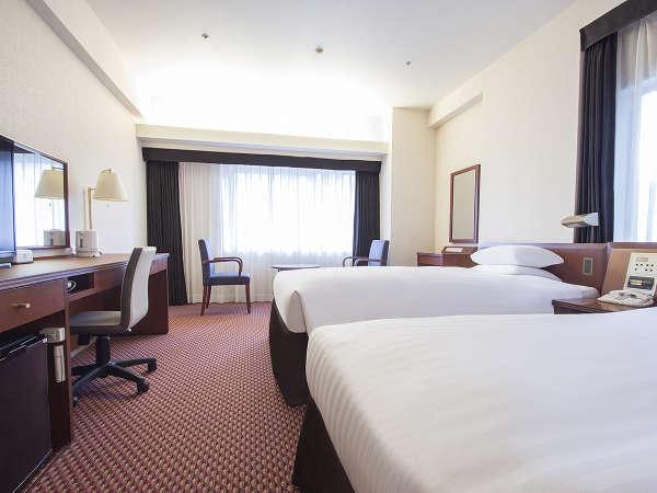 ■ツインルーム一例:120cm幅ベッド[23平米]