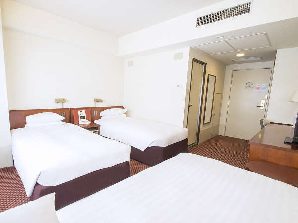 ■トリプルルーム:仲良し3人組に♪110cm幅の追加ベッドをご用意致しております