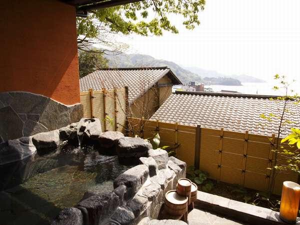 駿河湾と夕景を一望する貸切露天風呂「天狗のふくべ」」◎こちらも温泉です◎
