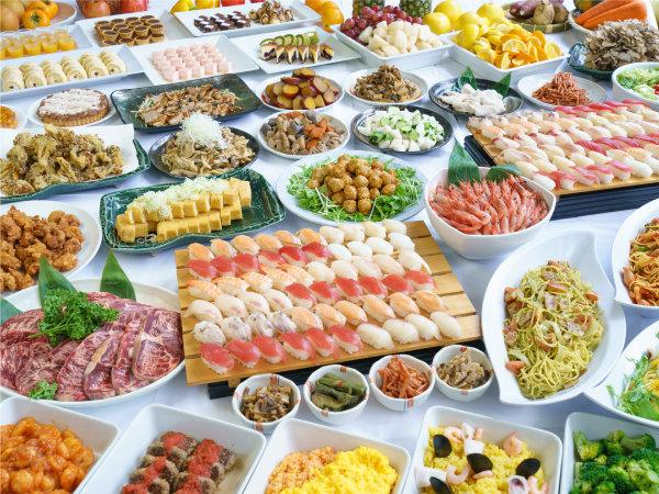 【バイキング(イメージ)】ローストビーフ、寿司、デザート食べ放題和洋中バイキング♪お子様コーナーも☆