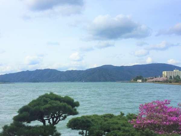 海側 春の風景