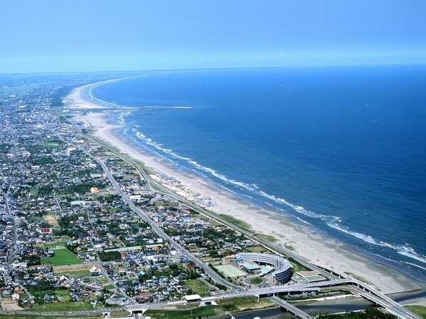どこまでも続く美しい砂浜と雄大な太平洋をひとり占め♪