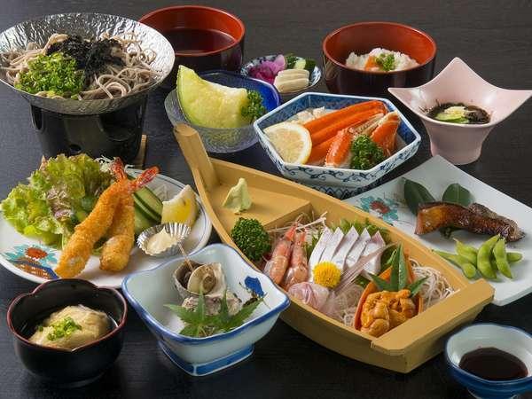 旬の海鮮会席料理の一例