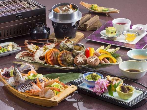 大人 夕食<網焼き料理>(一例)魚介とお造りは2名様盛り