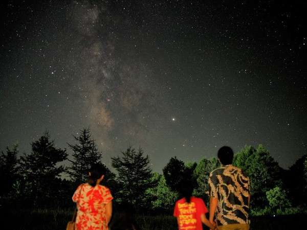 【周辺景観】裏磐梯の満天の星空