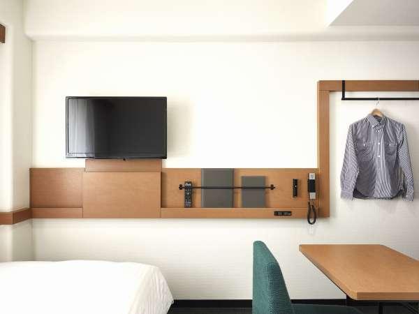 全室個別空調。壁掛けテレビ。ズボンプレッサー完備
