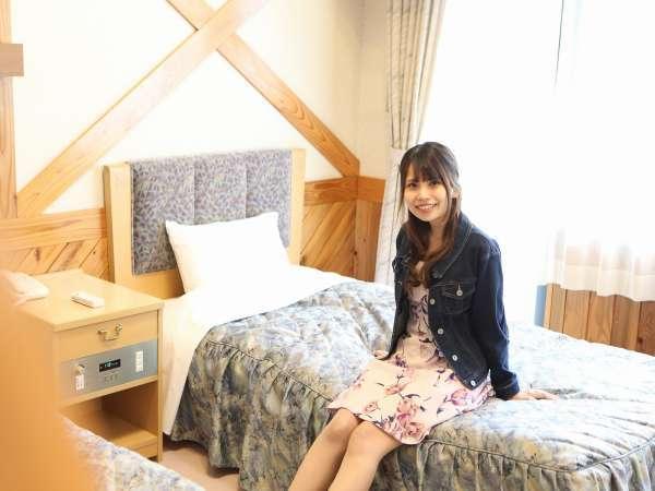 ◇【ロフト付ツイン】木のぬくもりあるお部屋です。