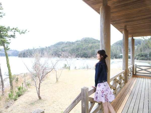 館内の至るところで海の景色を楽しめます。