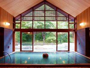 「美肌の湯」と称される星野温泉トンボの湯(当館から車8分)