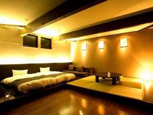 テラス、畳付きのスイートルームは当館一の贅沢な空間