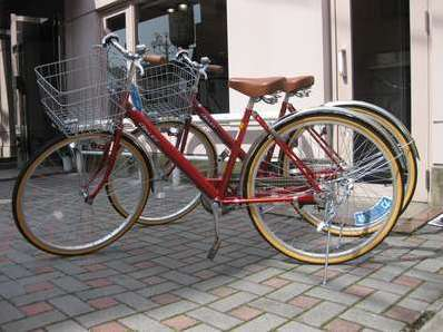 春~秋は自転車で散策が気持ちいい♪
