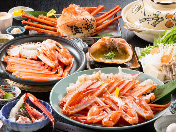 香住漁港から水揚げされたベニズワイガニ(香住がに)を使ったフルコース料理。