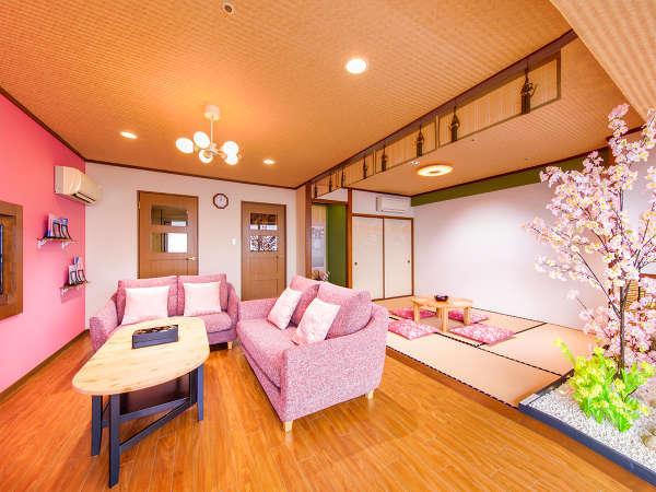 2018年11月オープンの「SAKURA(桜)ルーム」。1室限定。