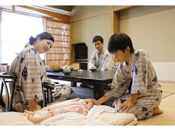 和室中心だから、寝相が悪くても大丈夫♪世界中の家族連れに人気の宿です。