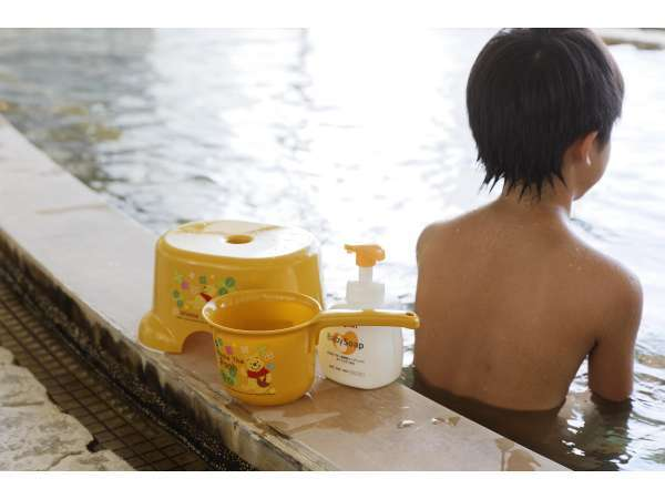 温泉大好きなお子様にも大好評な6階展望台浴場「二條泉」