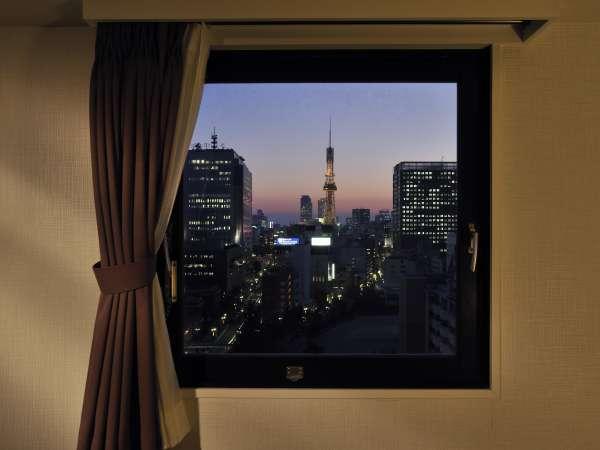 名古屋のシンボルテレビ塔の夜景です。栄、新栄町にもアクセス抜群です♪