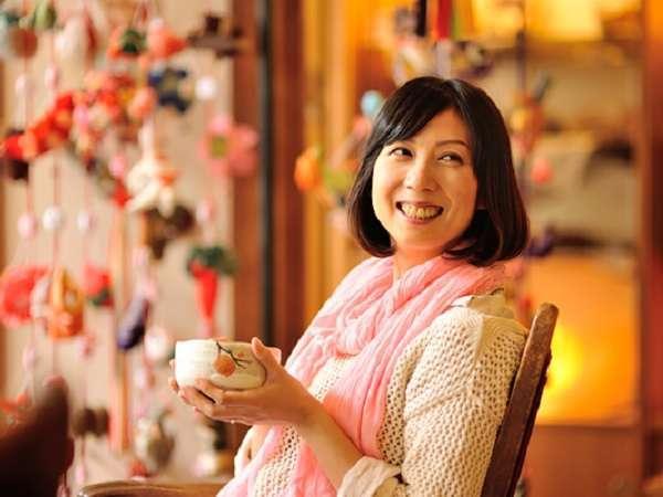 【1階フロントロビー】御抹茶のサービスでほっと一息。(15:00~18:00)