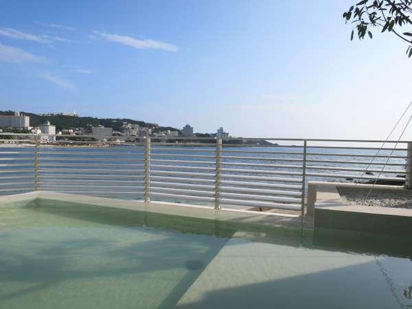【潮風】爽快な海と白い砂浜の景色が楽しめる露天風呂