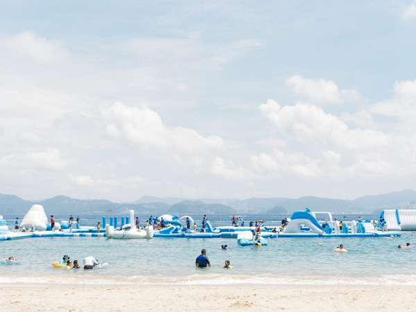 【i+Land nagasaki (旧名称:長崎温泉やすらぎ伊王島)】2021年7月10日(土)海水浴場・海上アスレチックOPEN!