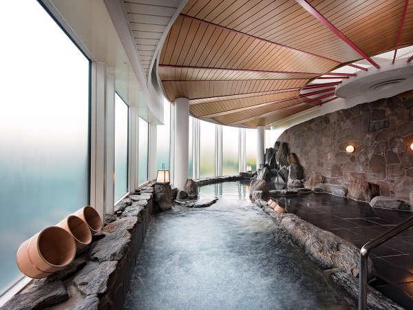 7階 岩風呂 ★ゆっくりつかれば、心も体も癒されます。和室・和洋室のお客様は入浴無料。