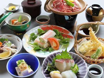 瀬戸内の海の幸を使った季節の会席料理です