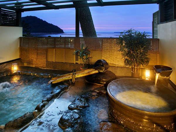 ■露天風呂■【海風の湯】菊ヶ浜から吹いてくると海風に包まれながら癒しの時間