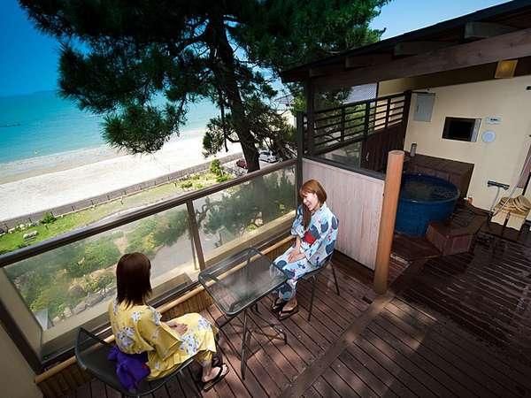 北長門海岸国定公園『菊ヶ浜』が見渡せる、自家源泉の露天風呂で癒される贅沢なひと時を(イメージ)